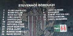 Stevenage team line-up