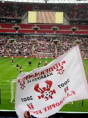 Harriers flag fying