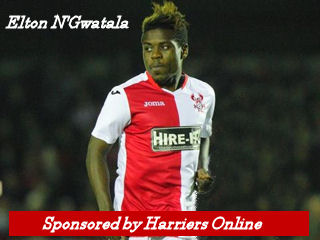 Elton N'Gwatala is sponsored by Harriers Online