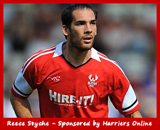 Reece Styche is sponsored by Harriers Online